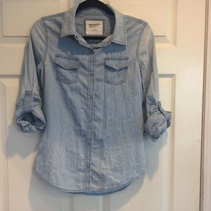 White-Wash Chambray Shirt